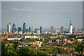 TQ3280 : View of the City of London from Archway Bridge by Julian Osley