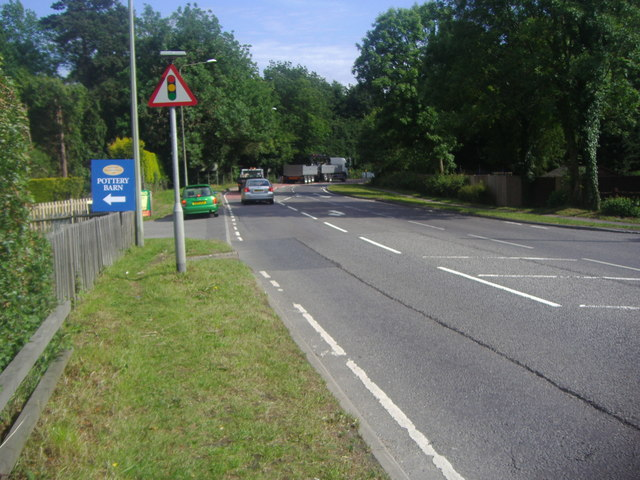 The A22 entering Forest Row