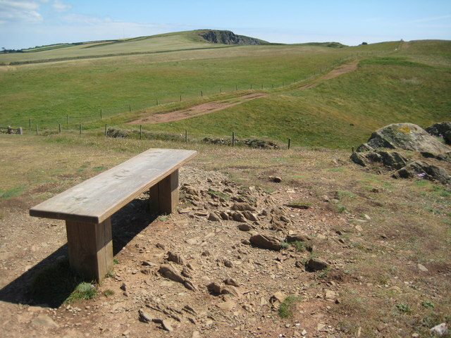 Bench beside the coast path