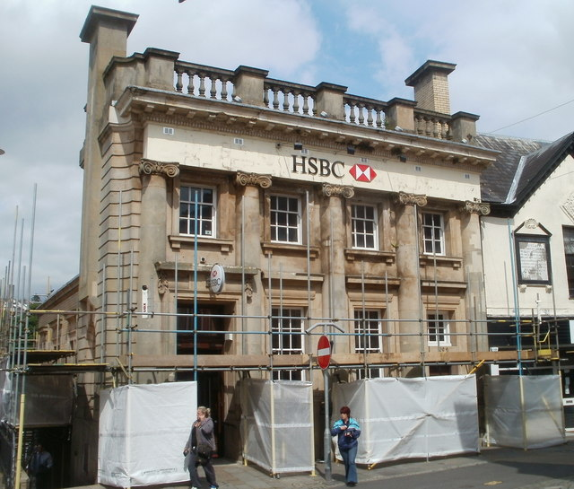 Grade II listed HSBC building, Pontypool