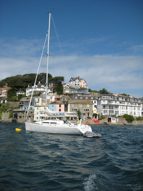 Yacht in Salcombe Harbour