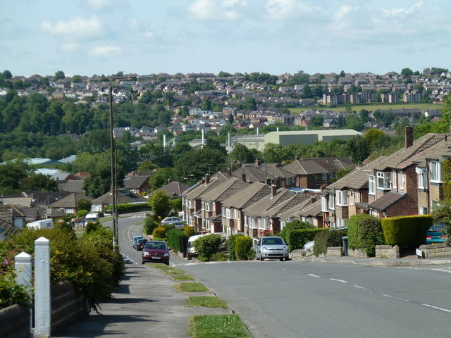 Stonelow Road and view of Dronfield