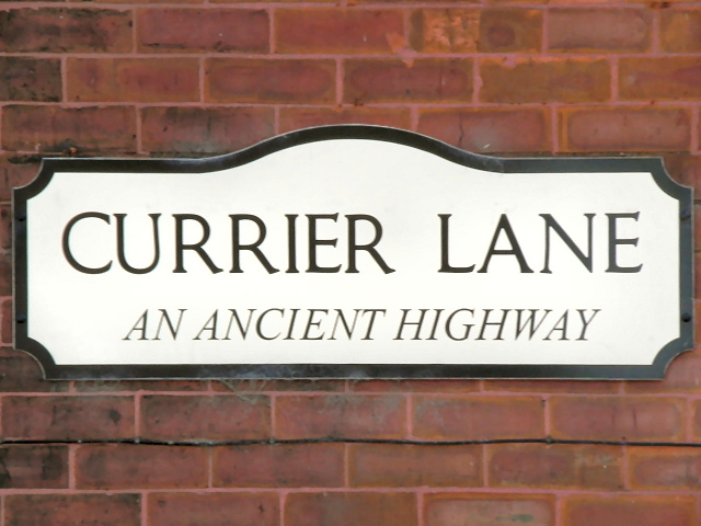Currier Lane Sign