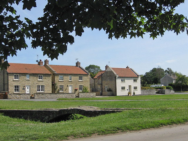 The old post office and old packhorse bridge, Sinnington