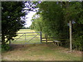 TM2456 : Footpath to Chimers Lane & Hall Road by Adrian Cable