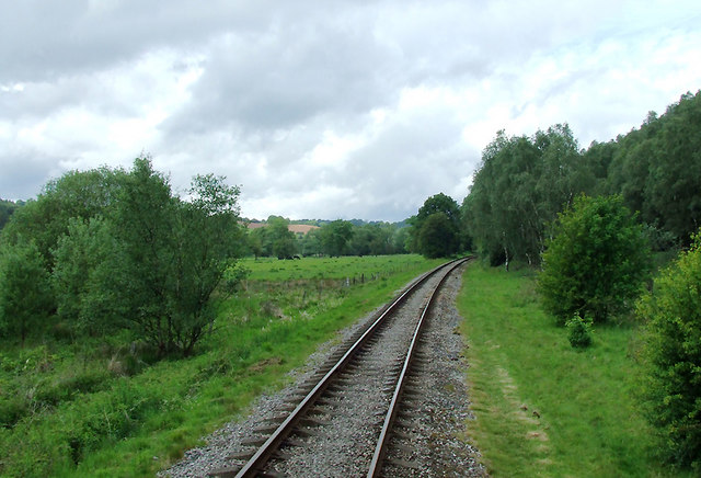 Churnet Valley Railway north-west of Consall, Staffordshire