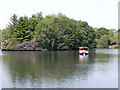 SJ9599 : Stamford Park Boating Lake by David Dixon