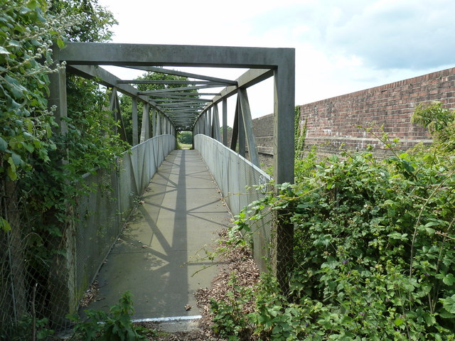 Footbridge over the main line near Coldwaltham