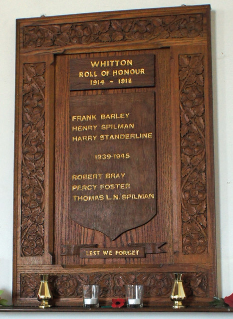 Roll of Honour in Whitton Church