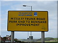 NX0882 : Transport Scotland Sign by Billy McCrorie