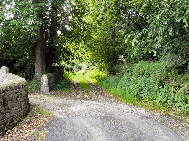 Path from Printworks Road to Heyrod Village