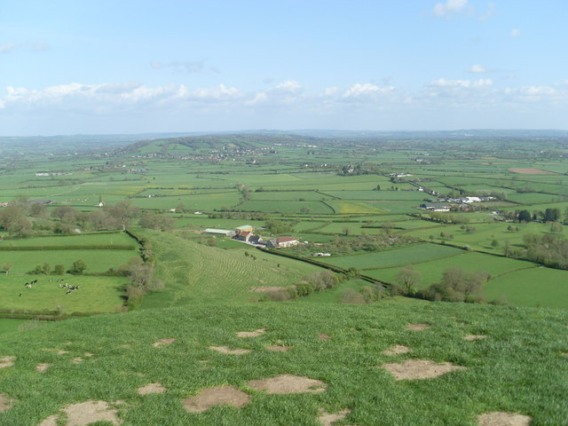 View looking East from Glastonbury Tor