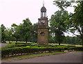 SJ9042 : Clock Tower, Longton Park, nr Dresden by Carl Farnell