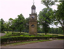 SJ9042 : Clock Tower, Longton Park, nr Dresden by Carl Farnell