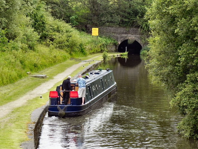 Narrowboat Below Lock 12W