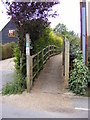 TM2660 : Footpath to Kettleburgh Village Green by Adrian Cable