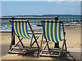 SZ1191 : Deckchairs at Boscome beach : Week 24