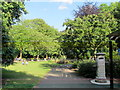 TQ2782 : St. John's Wood Church grounds by Mike Quinn