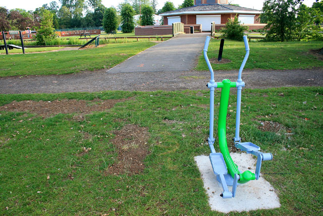 "Outdoor ""cross-trainer"" by the café"