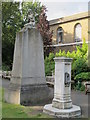 TQ2782 : Drinking fountain and memorial, St. John's Wood Church grounds by Mike Quinn