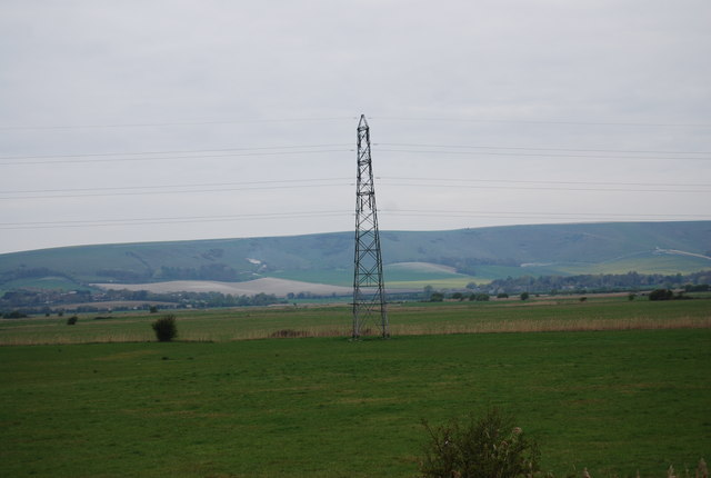 Pylon on the River Ouse flood plain