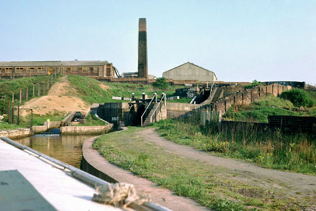 Locks 1 and 2, Caldon Canal, 1978