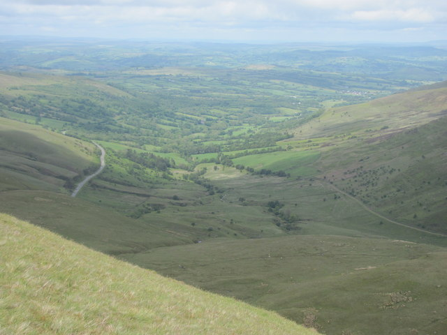 View down Glyn Tarell valley