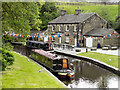 SE0311 : Tunnel End Cafe and Visitor Centre, Huddersfield Narrow Canal by David Dixon