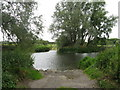 TL0352 : Ford on the River Great Ouse at Clapham by M J Richardson