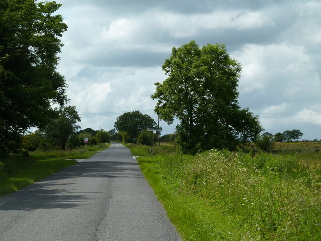 Alicehead Road approaching lane junction with Cullumbell Lane