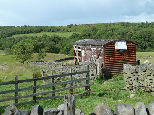 Upland farming and valley scene