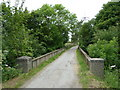 SK4479 : Railway bridge near Boiley Farm by Andrew Hill