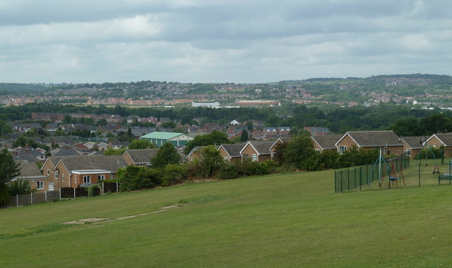 Recreation ground with views overlooking Killamarsh