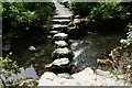 SH7971 : Stepping stones across the River Hiraethlyn by Jeff Buck