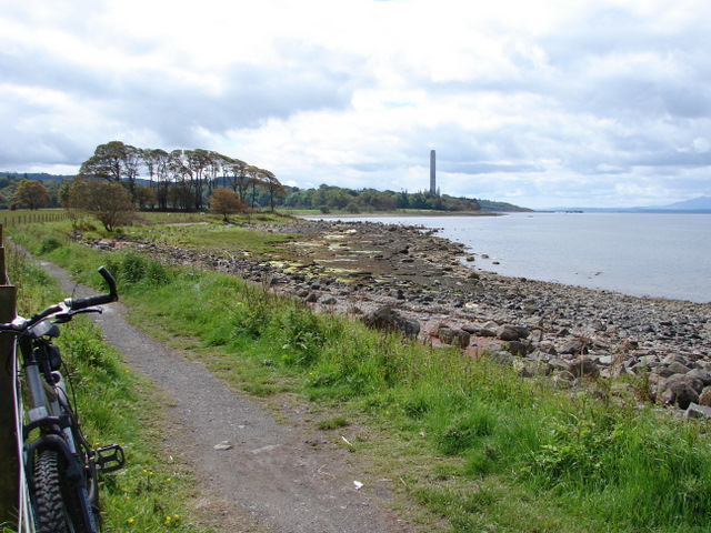 Coastal path at Lunderston Bay