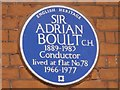 TQ2585 : Blue plaque re Sir Adrian Boult, Marlborough Mansions, Cannon Hill, NW6 by Mike Quinn