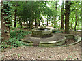 TQ3967 : Derelict fountain, South Hill Wood by Robin Webster