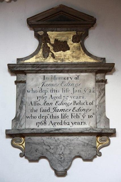 St Benedict, Glinton - Wall monument