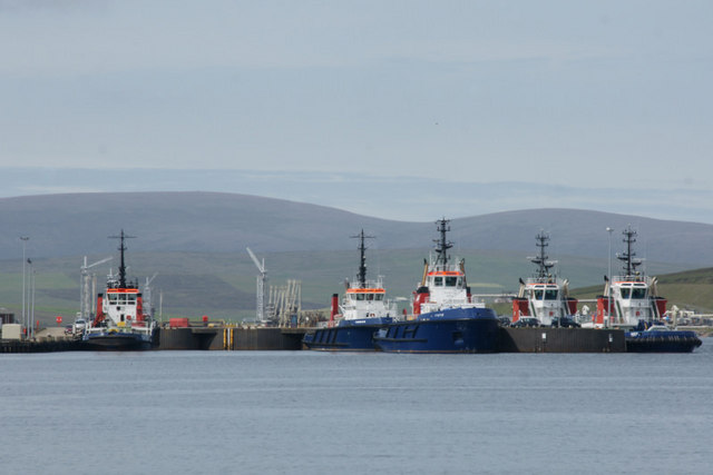 Pilot boats at Sella Ness