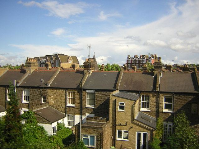 Rooftops, near Clapham Junction