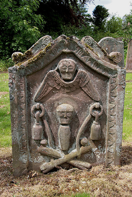 A symbolic gravestone in Foulden Churchyard