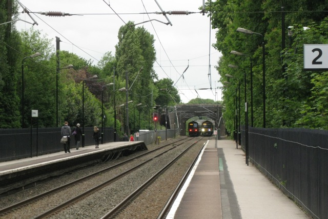 North end of Wylde Green station