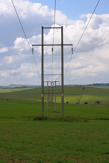 Electricity Transmission Poles, Elton Common