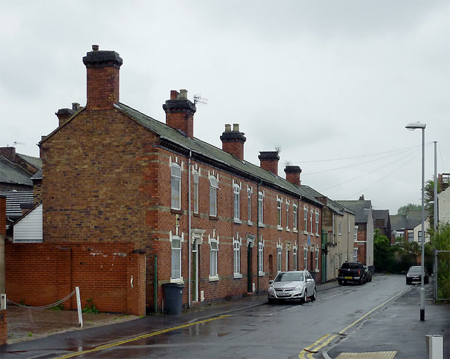 Terraced housing in Shelton, Stoke-on-Trent