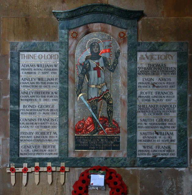 St Michael & All Angels, Uffington - War Memorial