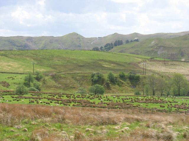 Fields east of the Dinas reservoir