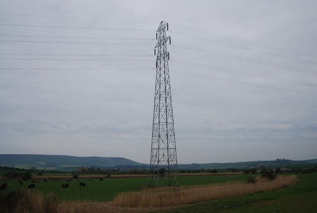 Pylon on the Ouse flood plain