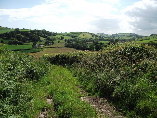 View towards Llanfihangel-uwch-Gwili