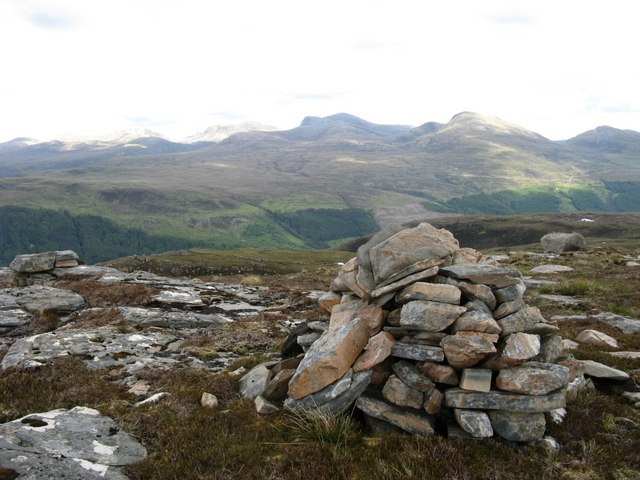 Summit of Meall Glac Tigh-fail