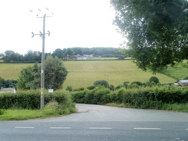 Access lane to Rheld Farm, Powys